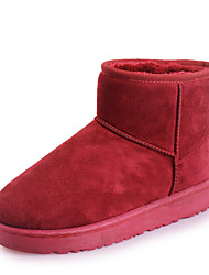 cheap -Women's Boots Snow Boots Flat Heel Round Toe Booties Ankle Boots Casual Daily Cotton Solid Colored Black Red Blue / Booties / Ankle Boots / Booties / Ankle Boots