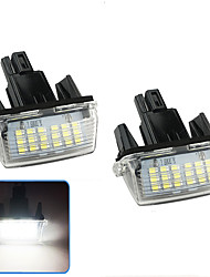 cheap -2Pcs 2W 12V 6500K LED License Plate Light Lamp Housing For Toyota Camry (2012-2016) Toyota Yaris (2012-2016) Toyota Vitz (2011-2016) Toyota Prius C (2012-2016) Toyota SAI (2014-2016) Toyota Noah