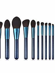 cheap -popular makeup brushes 12pcs foundation powder concealers eye shadows exquisite makeup brush sets (sapphire blue)