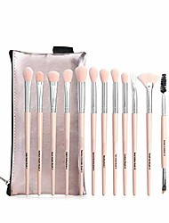 cheap -new 12 eye makeup brush sets brushes and brush bags beauty tools-pink-