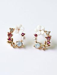 cheap -Women's Stud Earrings Earrings Fancy Fashion Simple Baroque Romantic Korean Cute Resin Shell Earrings Jewelry Blushing Pink For Anniversary Gift Date Vacation Beach