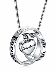 cheap -heart pendant necklace ash holder circle rings urns jewelry silver  funeral keepsake forever in my heart for human dog cat pet ashes stainless steel