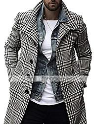 cheap -men's plaid  coat,peacoat  vintage jacket single breasted overcoats