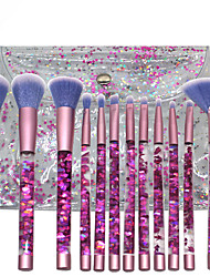 cheap -12pcs Acrylic Handle Liquid Sequin Makeup Brush Set Portable Makeup Brush Beauty Tool