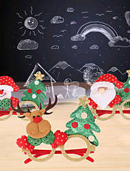 cheap -Christmas Toys Photo Booth Props Christmas Glasses Christmas Tree Decoration Party Favors Plastic 4 pcs Kid's Adults 16cm*18cm*0.3cm Christmas Party Favors Supplies / Random Color