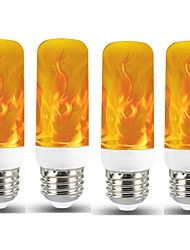 cheap -4pcs 1pcs New LED Dynamic Flame Effect Fire Light Bulb E27 LED Corn Bulb Creative Flickering Emulation 5W LED Lamp Light