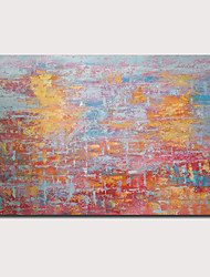 cheap -Oil Painting Hand Painted - Abstract Landscape Contemporary Modern Stretched Canvas