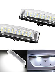 cheap -2Pcs 2W 12V 6500K LED Number License Plate Lights For 2007-2011 Toyota Camry 2007-2011 Toyota Yaris 2001-2003 Toyota Prius  2001-2005 Lexus IS300 (IS200) Sedan ONLY 2001-2006 Lexus LS430
