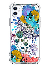 cheap -Floral Graphic Design Case For Apple iPhone 12 iPhone 11 iPhone 12 Pro Max Unique Design Protective Case Ins Style Shockproof Clear Back Cover TPU
