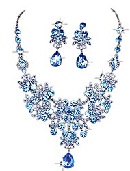 cheap -Women's Jewelry Set Earrings Jewelry Gold plated red / White / Blue For Wedding Party