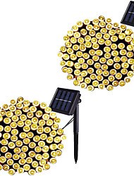 cheap -LED Solar Outdoor String Light Waterproof 12m 100LEDs 7m 50LEDs 8 Modes Solar Lights for Gardens Wedding Party Homes Patio Curtains Outdoor 2 PCS 1 PC