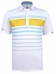 cheap -men's tennis short sleeve polo shirts sublimation print material wicks sweat & dries fast, new finishing technologies to combat smell with material wicks sweats & dries fast 3xl white yellow