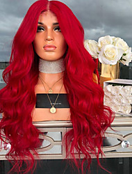 cheap -Synthetic Wig Wavy Asymmetrical Wig Long Red Synthetic Hair 27 inch Women's Red