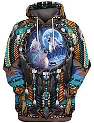 cheap -Inspired by American Indian American Indian Cosplay Costume Hoodie Terylene 3D Printing Hoodie For Women's / Men's