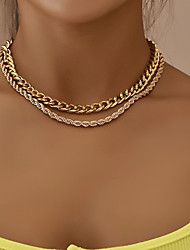 cheap -Women's Necklace Alloy Gold 30*42 cm Necklace Jewelry 1pc For Party Evening Festival