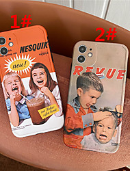 cheap -Case For Apple Scene Map iPhone 12 12 Pro 11 Pro Max Fine Hole Photo Frame Private Model Series Cartoon Pattern TPU Material IMD Craft Phone Case KK