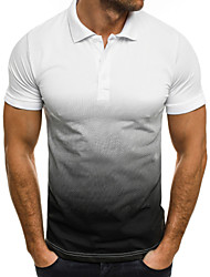 cheap -Men's Golf Polo Shirts Short Sleeve UV Sun Protection Breathable Quick Dry Sports Outdoor Autumn / Fall Spring Summer White Black Yellow Red Army Green / Stretchy