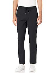 "cheap -amazon brand - men& #39;s athletic-fit modern stretch drawstring pant, black large/32"" inseam"