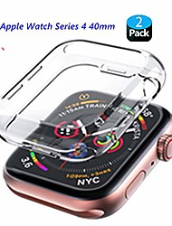 cheap -[2pack]  screen protector case For Apple iWatch Apple Watch Series SE / 6/5/4/3/2/1 44mm 42mm 40mm 38mm folice soft transparent tpu all-around cover protective for apple watch