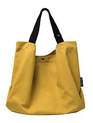 cheap -Women's Bags Canvas Top Handle Bag Daily Handbags Baguette Bag White Black Yellow Khaki