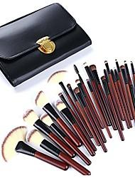 cheap -26 pcs makeup brushes set artificial fiber makeup tool brushes kit with makeup brush bag professional beauty tools portable, raw wood color