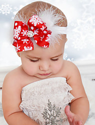 cheap -1pcs Toddler / Infant Girls' Active / Sweet Red Snowflake Bow Polyester Hair Accessories Red One-Size