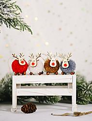 cheap -Christmas Celebration Decoration Felt Deer Pendant Creative New Elk Pendant Christmas Tree Hanging Gift