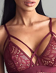 cheap -Normal Polyester Bras & Panties Sets Sexy Solid Colored Wedding Lace