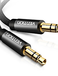cheap -Vention Aux audio cable Jack 3.5mm Male to Male Aux Cable for Car Speaker Headphone Stereo Speaker MP3/4 PC Speaker Cable 1.5m