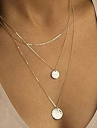 cheap -Women's Necklace Layered Necklace Stacking Stackable Simple European Fashion Alloy Rose Gold Gold Silver 40 cm Necklace Jewelry 1pc For