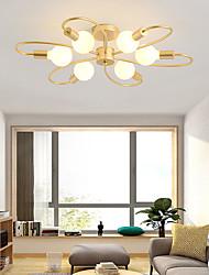 cheap -75 cm LED Ceiling Light Gold Nordic Style Modern Flush Mount Lights Metal Mini Painted Finishes 110-120V 220-240V