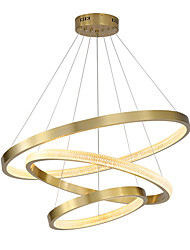 cheap -80 cm Premium Circle Pendant Light Luxury Gold Aluminum Anodized Modern Fashion 110-120V 220-240V