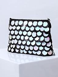 cheap -Women's Bags Polyester Alloy Evening Bag Beading Sequin Handbags Wedding Event / Party Black Gold Silver