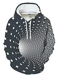 cheap -Men's Hoodie Color Block Geometric 3D Pocket Streetwear Hooded Daily Sports 3D Print 3D Print Pattern Hoodies Sweatshirts  Long Sleeve Black Blue Purple / Winter