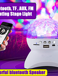 cheap -Wireless bluetooth Speaker Stage Light RGB LED Crystal Ball Effect Light DJ Club Disco Party Lighting Rechargeable USB/TF/FM