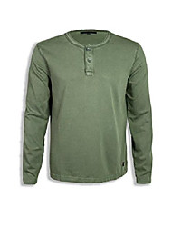 cheap -but& #39;s washed & vintaged henley shirts & #40;burnt olive, xs& #41;