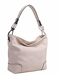 cheap -mia k collection hobo bag for women - pu leather handbag - womens shoulder bag top handle fashion pocketbook purse cognac brown