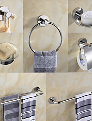 cheap -Bathroom Hardware Accessory Set -Towel Bar Toilet Paper Holder Robe Hook Soap Dish Towel Holder-SUS304 Low Carbon Steel Metal Wall Mounted