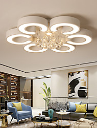 cheap -3/5/6 Heads LED Ceiling Light Lamp Crystal Modern Simple Luxury Dining Room Bedroom Nordic Living Room Household