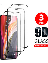 cheap -3PCS 3D Full Cover Tempered Glass For iPhone 12 11 Pro Max 12 Mini Protective Films For iPhone 12 11 X XS MAX XR SE 2020 8 7 6 Plus 5 se Full Cover Screen Protector Tempered Glass