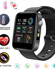 cheap -F68 Smart Watch Men Body Temperature Measure Heart Rate Blood Pressure Oxygen Bracelet Call Reminder Smart Watch Black Pink