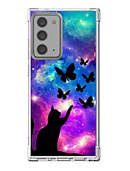cheap -Cat Animal Case For Samsung Galaxy S21 Galaxy S21 Plus Galaxy S21 Ultra Unique Design Protective Case Shockproof Back Cover TPU