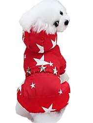 cheap -Cat Dog Coat Hoodie Pants Letter & Number Cosplay Wedding Outdoor Winter Dog Clothes Puppy Clothes Dog Outfits Red Blue Costume for Girl and Boy Dog Cotton XXS XS S M L