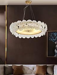 cheap -60/80 cm Chandelier Gold Pendant Light Modern Luxury Island Light Glass Metal Electroplated 110-120V 220-240V