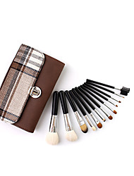 cheap -Professional wool 12 makeup brushes high-end makeup tools makeup brush set makeup tool set