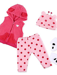 cheap -Reborn Baby Dolls Clothes Reborn Doll Accesories Fabrics for 20-22 Inch Reborn Doll Not Include Reborn Doll Soft Pure Handmade Girls' 4 pcs
