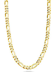 cheap -solid 18k gold over sterling silver italian 5mm diamond-cut figaro link chain necklace for women men, 16, 18, 20, 22, 24, 26, 30 inch 925 made in italy (24 inches)