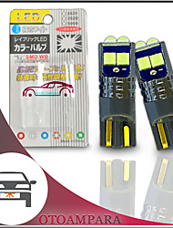 cheap -OTOLAMPARA 1 Pair Car Number Plate Light W5W 147 152 158 159 161 184 194 Special for Ford Fiesta/ Volkswagen Golf/ Polo/ Ford Focus/ Kuga/ Nissan Qashqai/ Vauxhall Corsa LED Bulb T10 Ice Blue Color