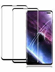 cheap -galaxy s10 plus screen protector, (2 pack) scratchproof/no bubbles/ 9h hardness/ 3d full coverage tempered glass screen protector compatible with samsung galaxy s10 plus/ s10+ 5g