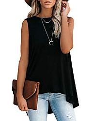 cheap -women's summer sleeveless high-low draped tops m black